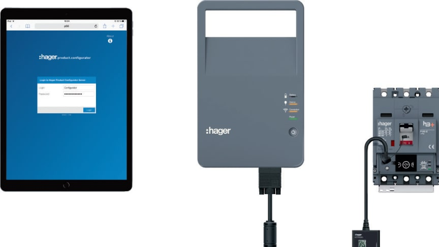 h3+ från Hager med konfigurator