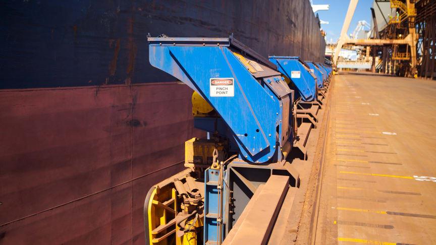Cavotec MoorMaster MM200B units at an iron ore handling facility at Port Hedland, Australia.