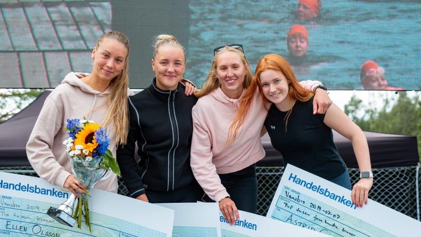 Ellen Olsson, Elise Öberg, Marie Carlsson och Astrid Gustavsson. Foto: Jonna Andersson