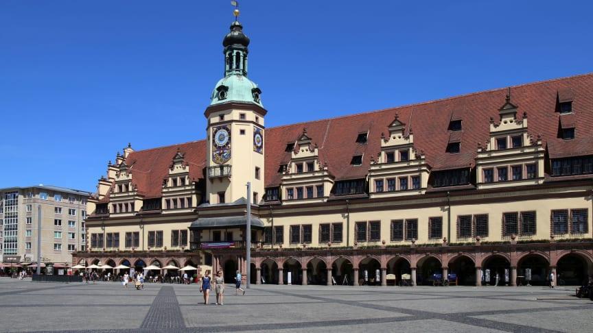 Eine der bekanntesten Sehenswürdigkeiten in Leipzig: das Alte Rathaus - Foto: Andreas Schmidt