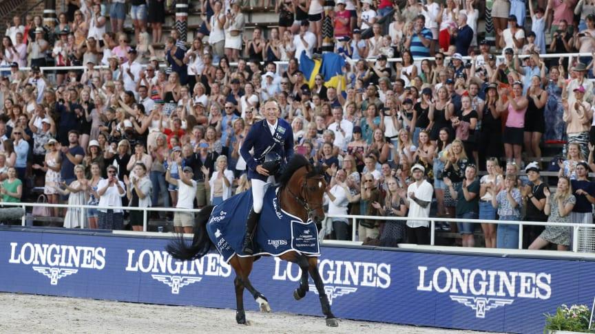 Peder Fredricson vann Longines Global Champions Tour Stockholm 2019. Foto: Alida Säflund/LGCT Stockholm & Stockholm Horse Week