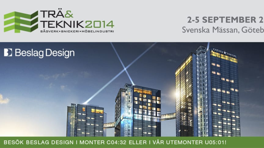 Beslag Design och IMA Norscan ställer ut på Trä & Teknik 2014