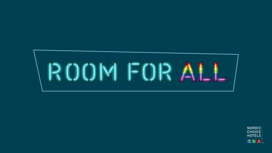 Rom for alle hos Nordic Choice Hotels under Pride 2019