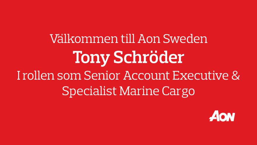 Välkommen till Aon Tony Schröder!