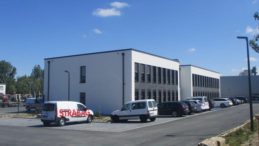 Neuer Firmensitz der STRABAG Sportstättenbau GmbH und der STRABAG AG, Gruppe Verkehrstechnik, in Lünen (Copyright: STRABAG AG)