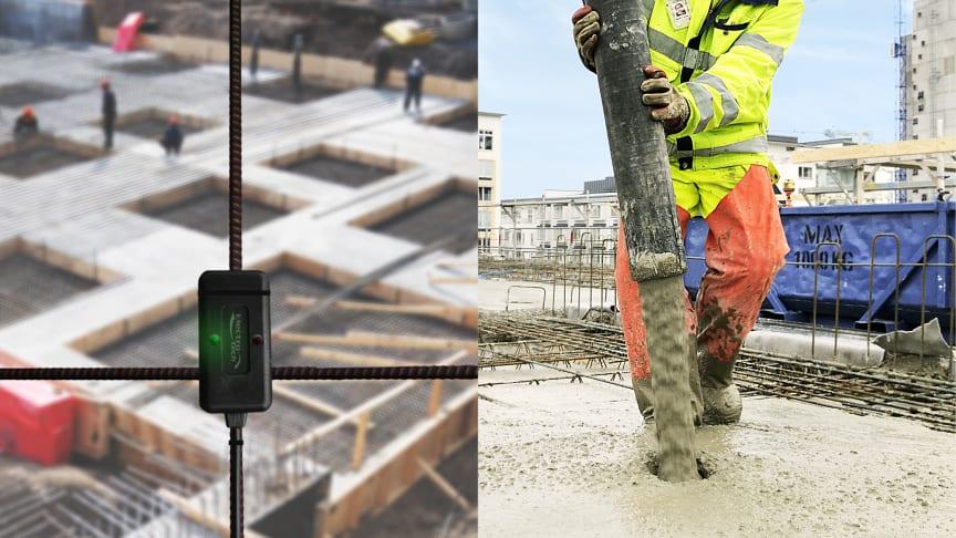 Trådlösa sensorer ska göra jobbet enklare vid betonggjutningar