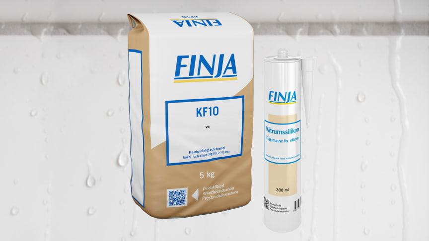 Finjas KF10 – ny kakel- och klinkerfog i 10 kulörer
