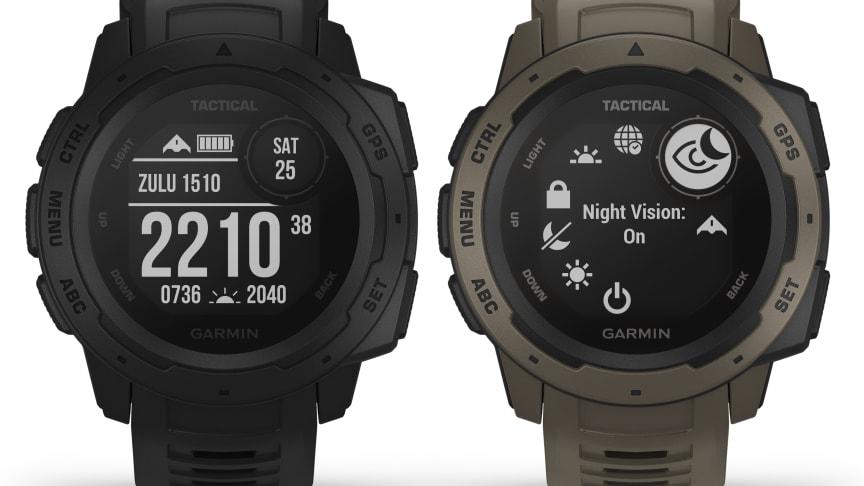 Garmin® presenterar Instinct™ Tactical Edition En robust GPS-klocka, designad för att tåla de tuffaste förhållandena