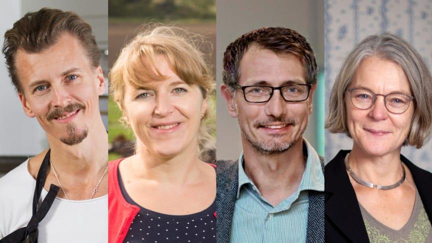Jury för Årets Klimatbonde från vänster: Paul Svensson, Helena Allard, Ulf Sonesson, Anna Richert