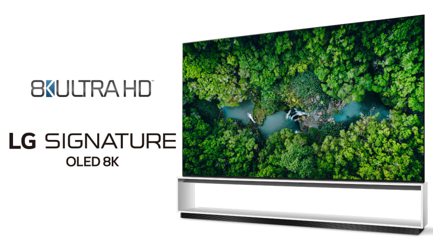 LG er første TV-produsent til å overgå den offisielle bransjedefinisjonen for 8K ULTRA HD-TVer