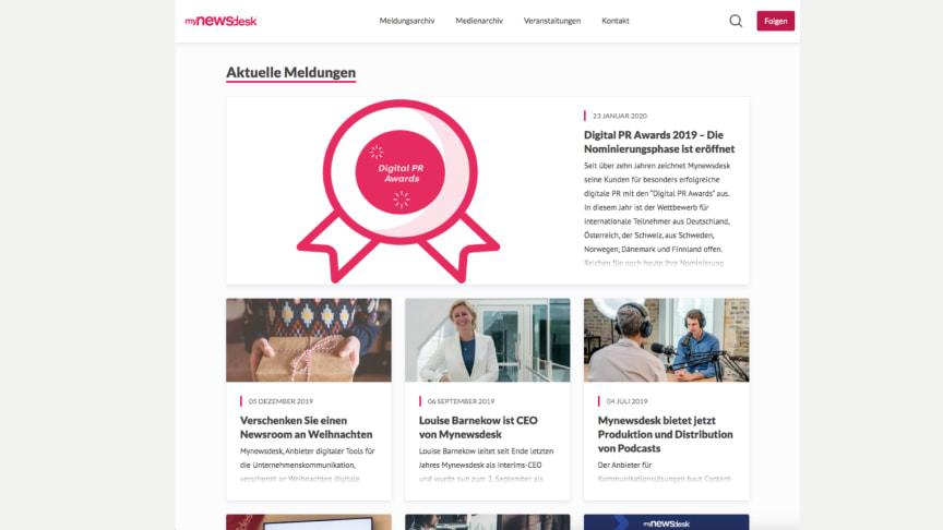 Der Newsroom im 2020-Design