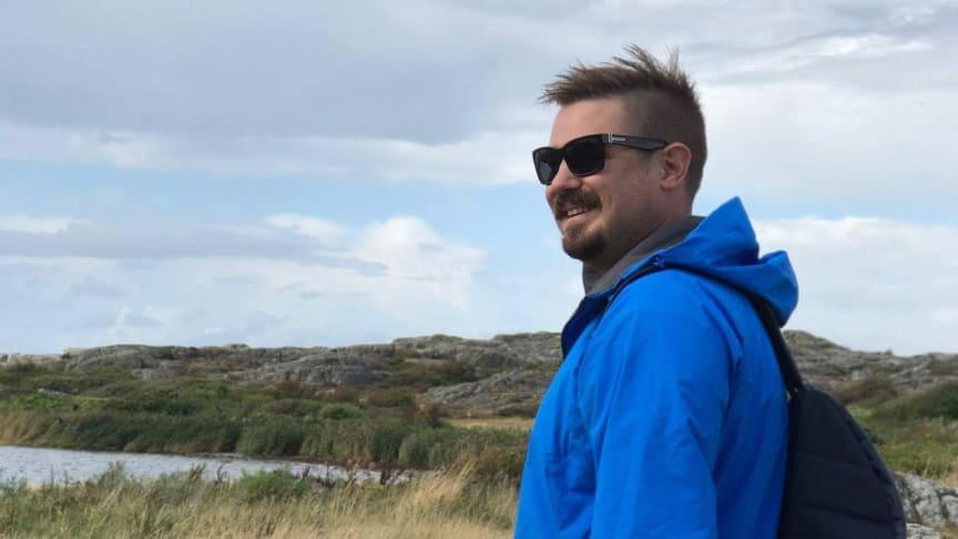 Niklas Svensson från Västerås var den första att anmäla sig till Vansbrosimningen 2018. Foto: Privat