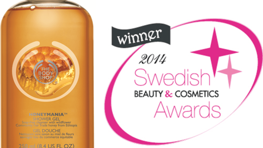 Honeymania™ Shower Gel vinnare i Swedish Beauty & Cosmetics Awards
