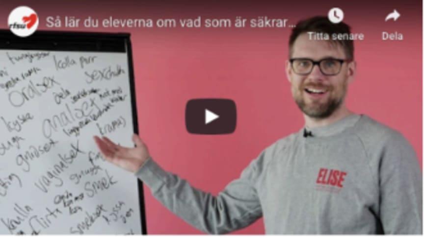 Lärare osäkra på hur man pratar sex – nu kommer hjälp från RFSU!