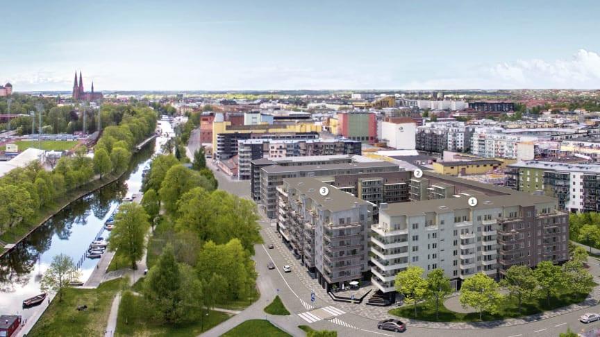 Riksbyggen säljstartar över 160 bostadsrätter längs Östra Ågatan