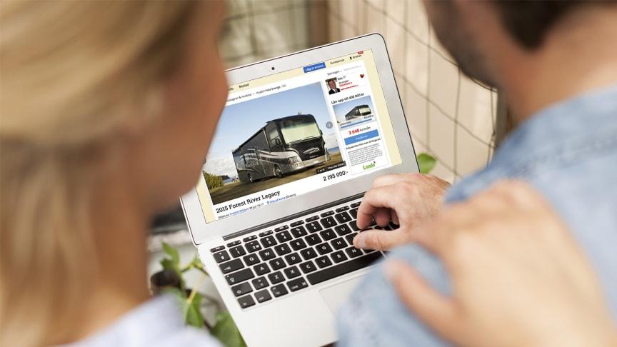 Handeln av begagnade husvagnar och husbilar ger stor klimatvinst