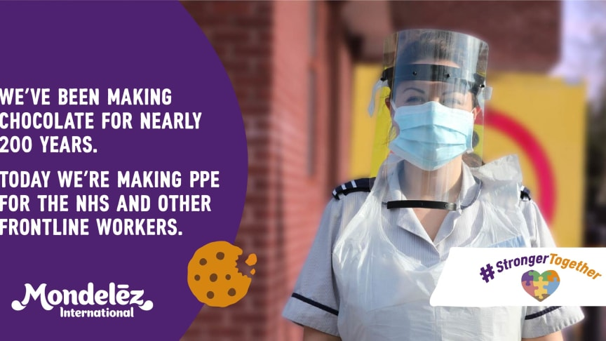 Mondelez teams up with engineering company 3P Innovation to produce medical visors for NHS workers and other frontline services