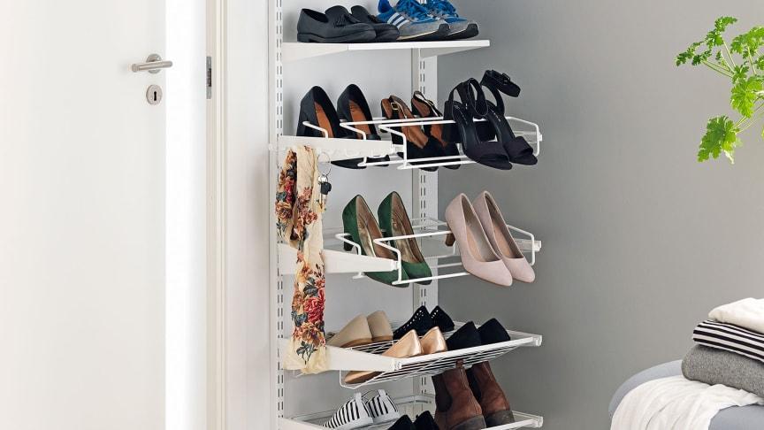 Ta kontroll over skoene i gangen