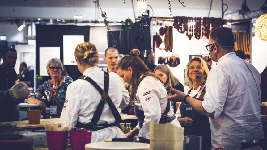 Provsmakning i Live-Köket Fastfood&Café/ Restaurangexpo