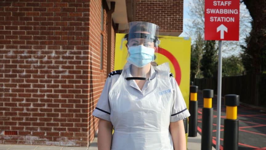 NHS Staff with Visor - no branding