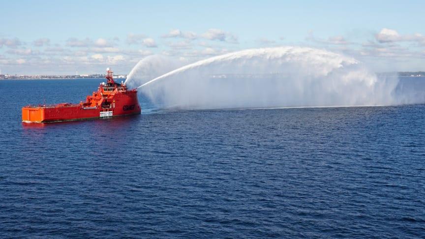"""""""Esvagt Aurora"""" er den fjerde nybygning, ESVAGT får hjem fra Zamakona Shipyard. Både søsterskibet """"Esvagt Bergen"""" og skibene """"Esvagt Corona"""" og """"Esvagt Capella"""" er bygget i Bilbao."""