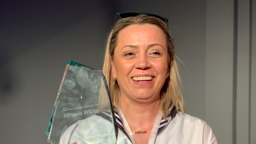 Mihaela Pricop är Comfort Hotels Department Manager of the Year 2019
