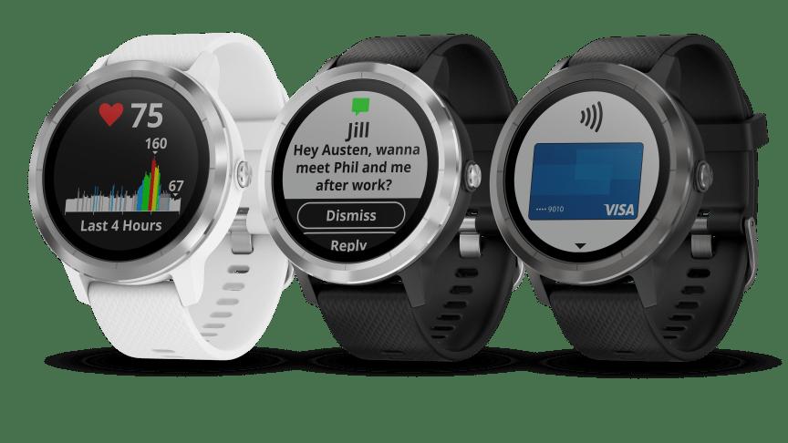 Garmin vívoactive® 3 GPS-smartwatch med indbyggede sports-apps