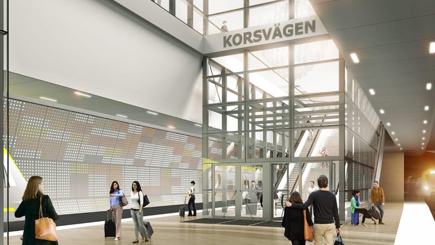 Eitech vinner förtroende att installera ännu en etapp i Västlänken, Korsvägen ett uppdrag värderat till ca 520 MSEK