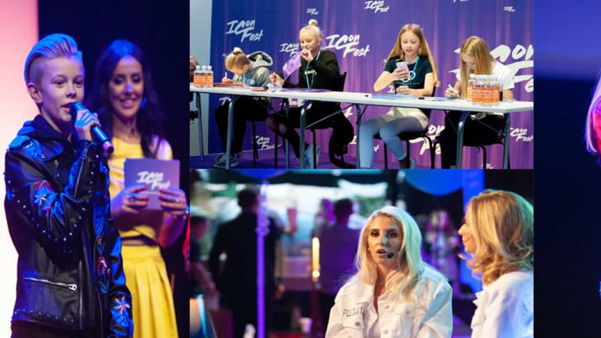 """På ICONFEST 2018 fick många träffa sina idoler. Theo """"Theoz"""" Haraldsson utsågs till årets stjärnskott. Bianca Ingrosso blev årets influencer."""