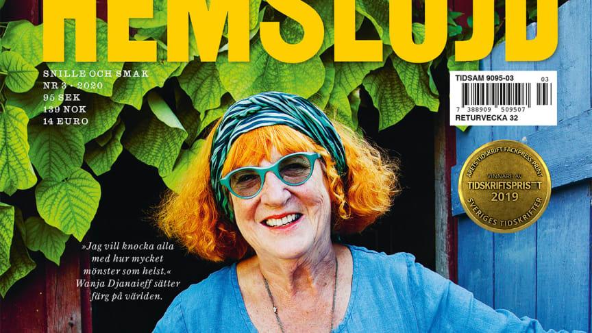 Wanja Djanaieff på omslaget till Hemslöjd 3/2020. Omslagsfoto: Lena Katarina Johansson.