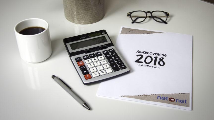 NetOnNet viser en økning i salg på 7,5 prosent og et overskudd på MSEK 45,6 (9,0) i 2018.
