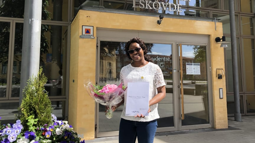 Lizzy Okogie från Nigeria är Högskolan i Skövdes Global Swede 2020.