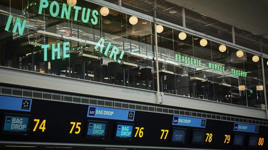 Pontus in the Air Stockholm Arlanda Airport terminal 5, foto: Martin Löf.