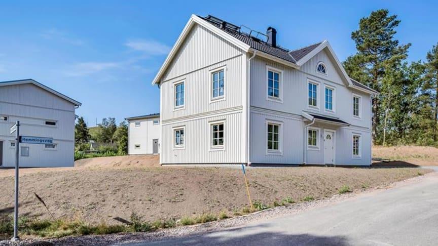 Mästergården är ett av de fem hus som Myresjöhus visar i Södersätra.