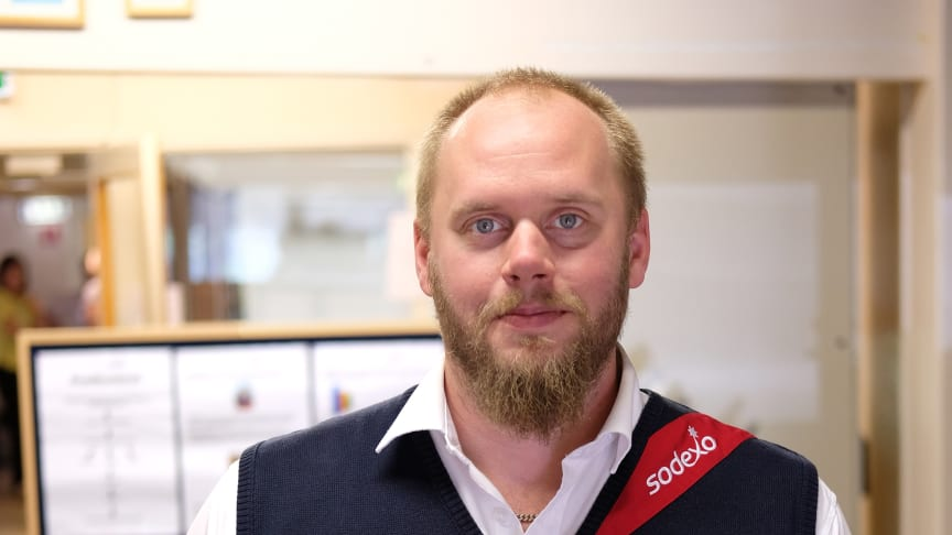 Peter Wigg, platschef Sodexo Gävle. Fotograf: Nenne Jacobson Granath, atelje3@comhem.se