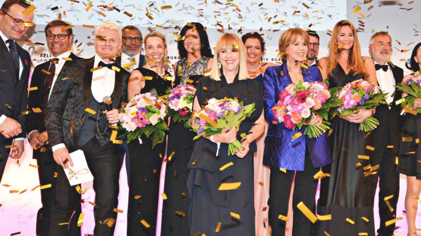 Preisträger und Laudatoren beim Felix Burda Award 2018