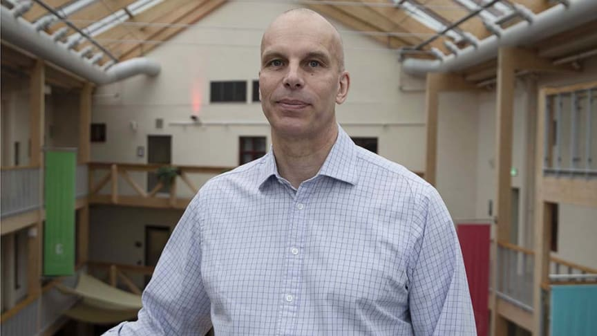 Torbjörn Olsson på Atletor är glad över att ha blivit tilldelad Åforsk Entreprenörsstipendium.