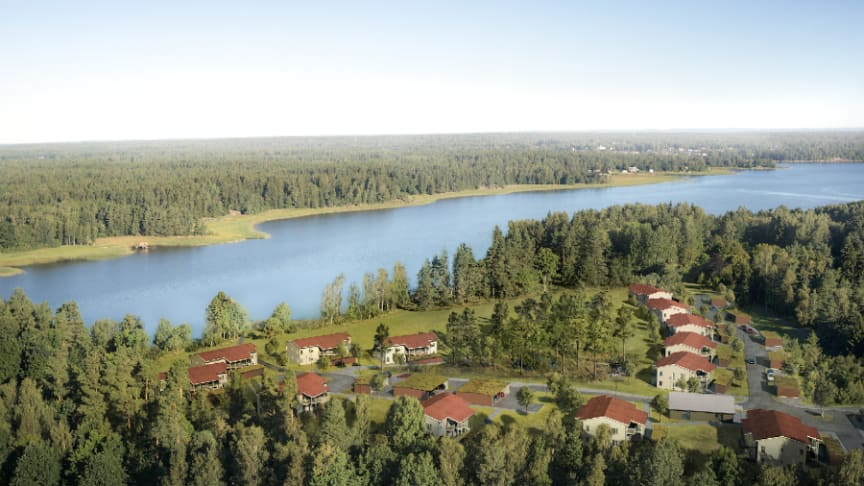 Brf Korseberg strand kommer att bestå av 40 nya bostadsrätter, på två till fyra rum och kök med antingen balkong eller uteplats. Inflyttning hösten 2020.