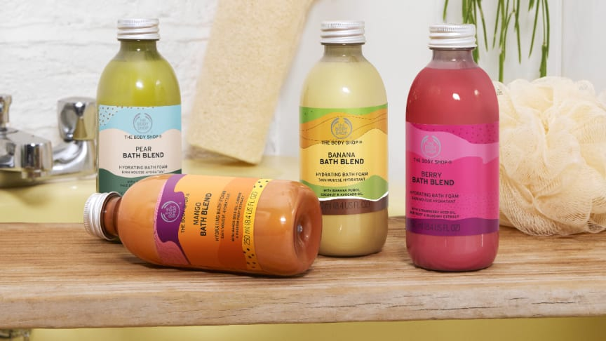 Bath Blends – fyra nya, silkeslena badskum i fruktiga dofter!