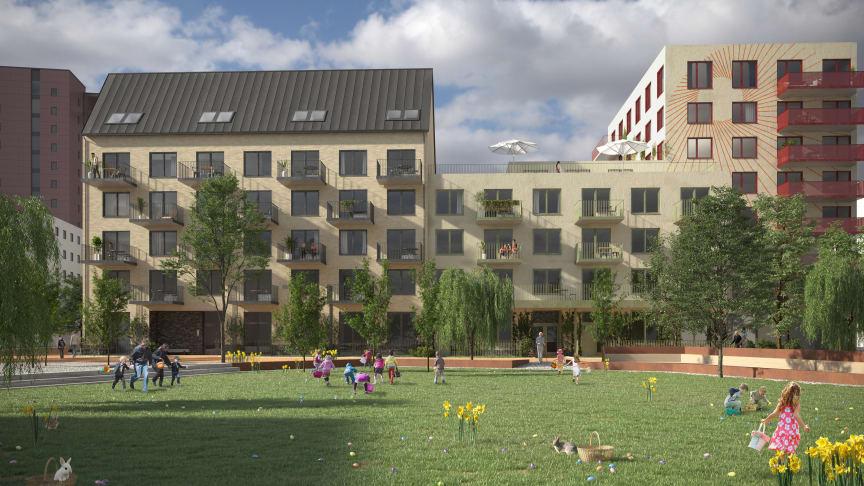 FOJAB ritar nytt bostadshus åt PEAB i södra Brunnshög, Lund