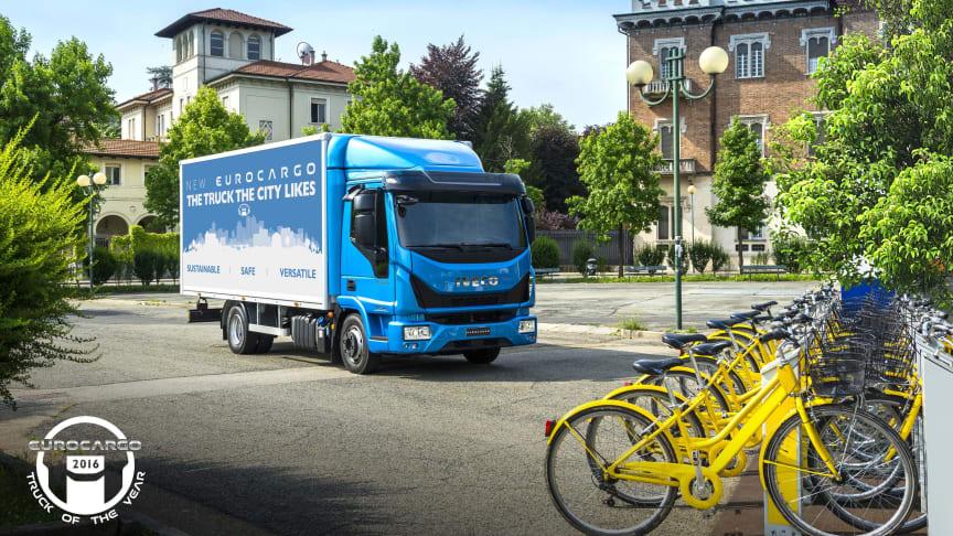 """Nya Eurocargo - stadens mest populära lastbil - utsedd till """"International Truck of the Year 2016"""""""