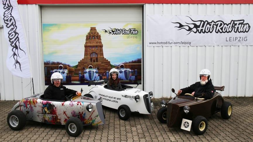 Andreas Nötzel, Josefin Möbius und Maik Wenckstern präsentieren die Hot Rods - Foto: Sarah Stollberg