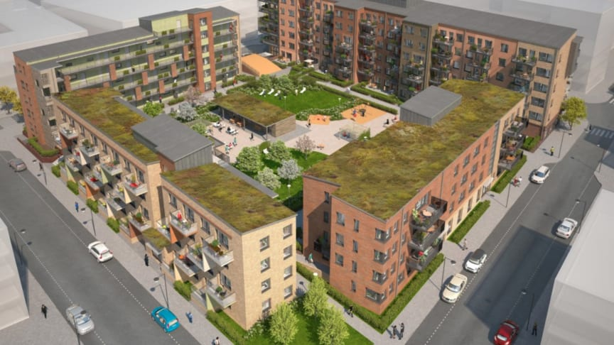 Brf Jubilaren i kvarteret Bostället nominerad till Årets byggnad i Sundbyberg