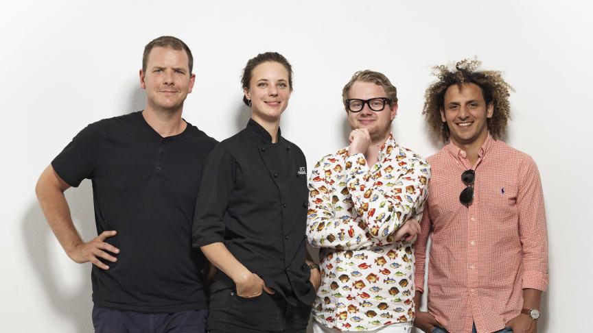 Jonathan Burns, Titti Qvarnström, Pierre Orsander och Sadoo Iskandarani. Foto: Christoffer Lomfors.