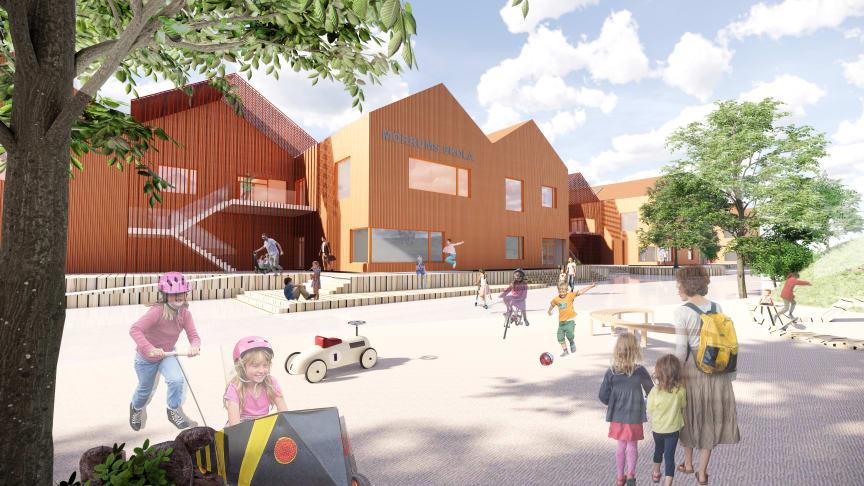 Mörrums nya skola – en pedagogisk, inspirerande och trygg lärmiljö i barnens skala