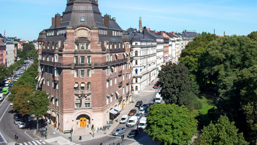 Fastigheten T-House vid Engelbrektsplan i Stockholm. Fotograf: Gustav Kaiser