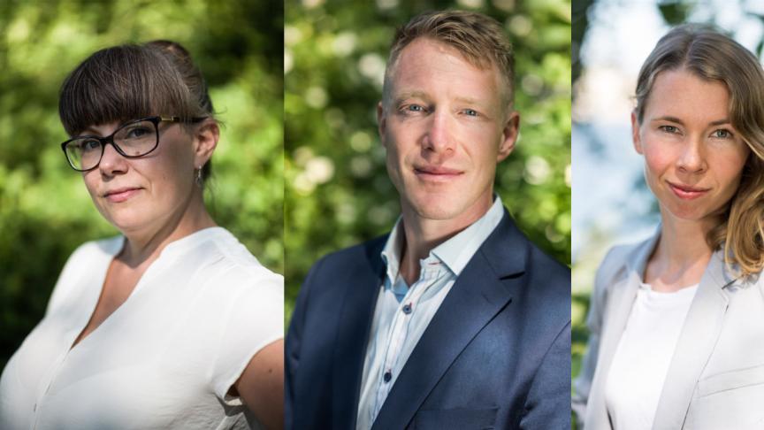 VD Johanna Lakso, Anna Wolf, Daniel Kulin & Johanna Barr