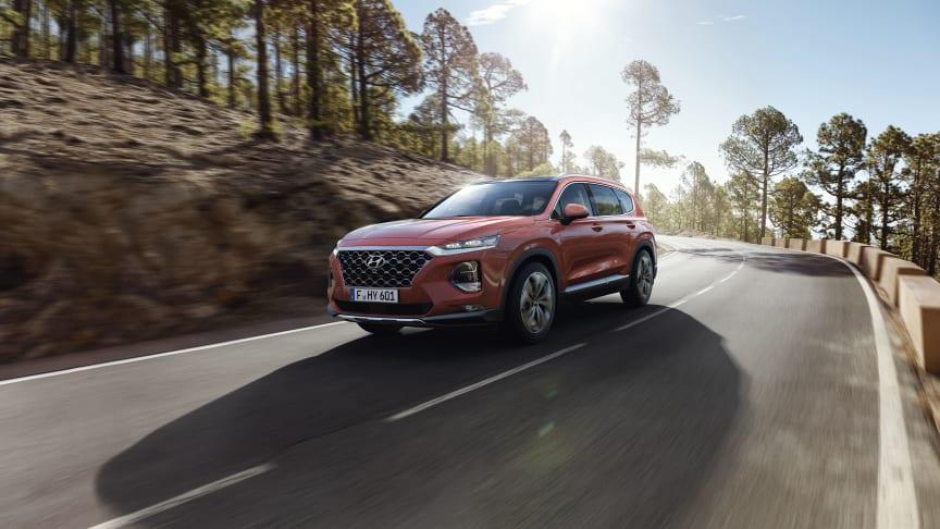 Hyundai i topp när J.D. Powers mäter bilars kvalitet. Nya Santa Fe, vinnare i sitt segment.