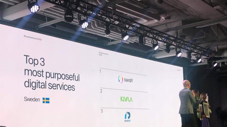 Kivra på plats 2 bland Sveriges mest meningsfulla digitala varumärken
