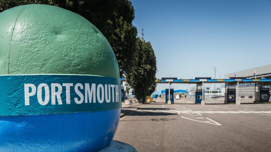 Digitalisering ökar transportflödena i brittisk hamn.                                     Foto: Portsmouth International Port